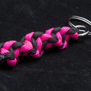 Neon Pink and Black Key Chain